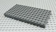 Lego Dark Gray 8x16 Thick Building Base Plate 4204 44041