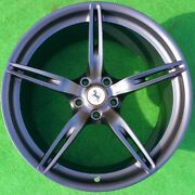 Factory Ferrari 458 Speciale Wheels Perfect Authentic Genuine Oem Black Forged