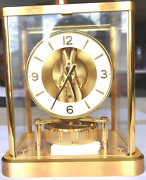 Jaeger Le Coultre 13 Jewel Atmos Brass Case Clock 540 Serial 62764 Rare