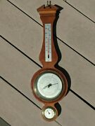 Antq Mahogany 20 Fee And Stemwedel, Chicago Airguide Hygrometer Weather Station