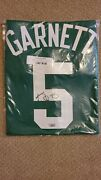 Kevin Garnett Signed Celtics Nba Jersey Mitchell And Ness 100 Authentic