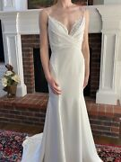 Andlsquofawnandrsquo By Hayley Paige Wedding Gown. Removable Over Skirt. Size 6