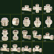 F / Male Bsp Brass Pipe Fitting Union,elbow,tee,reducing Nipple Adapter Plumbing