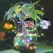 2 Outdoor Waterproof Copper Wire Solar String Lights Led Garden Xmas Party Decor