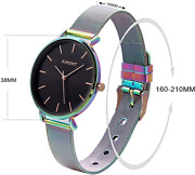 Womens Watches Leather Quartz Waterproof Wristwatch For Women Different Colors