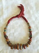 Amber And Coral Necklace Very Old In North Africa In The Early 20th Century