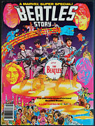 Marvel Comics Super Special 4 The Beatles Story Magazine Vf+ 1978 With Poster