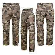 Menand039s Casual Workwear Camouflage Camo Outdoor Army Norman Trousers Pants