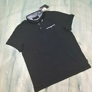 New Ted Baker London Sz 6 Slim Fit Derry Flat Knit Polo Shirt 99 Jh97