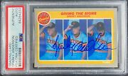 Sparky Anderson Auto Signed Card Fleer 628 1985 Detroit Tigers Psa Encapsulated