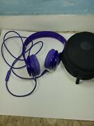 Beats By Dr Dre Purple Solo Hd Wired Headphones Used As Is