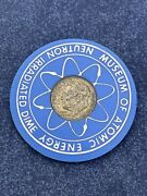 1964 Neutron Irradiated Roosevelt Silver Dime American Museum Atomic Energy Z535