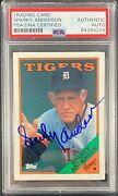 Sparky Anderson Auto Signed Card 1988 Topps 14 Detroit Tigers Psa Encapsulated