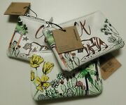 You Get 3 Starbucks California Card Pouches Pouch With Key Ring Silver Lining