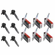6 Motorcraft Spark Plugs Sp534 And 6 Delphi Ignition Coils Gn10237 For Ford 11-14