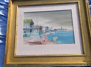 Aaron Bohrod Cottage With Swimmers Gouache/wc Americanmany Museumschicagoil
