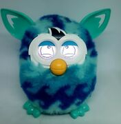 Hasbro Furby Boom Blue Teal Turquoise Waves Interactive 2012 Ombre Tested