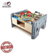 Piece Railway Train Table And Set Toy With Battery Powered Storage For Kids 3y