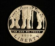 2010-w They Stood For Us Silver Dollar Commemorative Proof - Free Shipping Usa