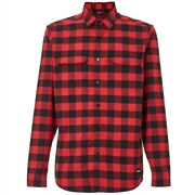 Checkered Ridge Long Sleeve Bike Shirt Dwr Red Line Shirt Mtb Dh New