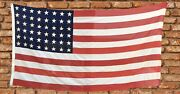 Antique Vtg 48 Star American Flag 4andrsquox9andrsquo United States Of America Hand-sewn Stars