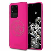 Guessandreg Silicone With Microfiber 4g Case For Samsung Galaxy S20 Ultra Fushia