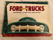 Vintage 1952 Ford Truck Brochure Catalog With Vehicles And Parts 32 Pages