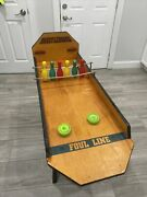 Vintage Carnival Games Table Top Shuffle Board