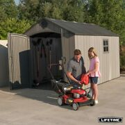 Lifetime 8ft X 12.5ft 2.4 X 3.8m Simulated Wood Look Storage Shed