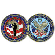 Veteran Challenge Coin Us Department Of Veterans Affairs Freedom Eagle Featured