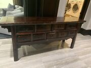 Antique Asian Alter 9 Drawer Table Sideboard/buffet
