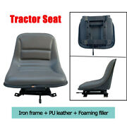 Black Golf Cart Tractor Seat Universal Adjustable Tractor Seat Lawn Mower Seat
