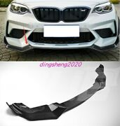 1x Real Carbon Exterior Front Bumper Lower Guard Trim For Bmw 7 Series 2017-2020