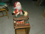 Vtg Santa's Workshop Holiday Creations 20 Animated Lighted W/music And Horse Jb