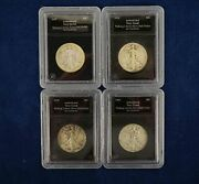 Date Variety 4-coin Walking Liberty Lots In Pcs Holders - Free Shipping Usa