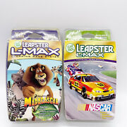 Leapster L-max Game Cartridges Nascar And Madagascar New Damaged Packages