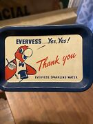 Vintage Evervess Pepsi Beverages Advertising Tip Tray Tin Collectible 158-q