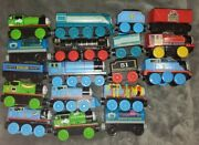 Lot Of 18 Thomas The Train And Friends Wooden And Metal Trains Lot Tested Works