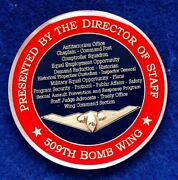 Usaf 509th Bomb Wing B-2 Presented Director Of Staff Challenge Coin P-3