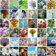 Diy Oil Paint By Number Flower Paint Canvas Hand Painted Adults Kids Home Decor