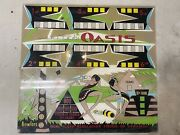 Original Vintage Uniteds Oasis Bowling Arcade Marquee Sign 1970s 1980s 34x32
