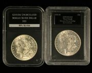 1921-pd 1 Morgan Silver Dollar Pair In Holders - Free Shipping Usa