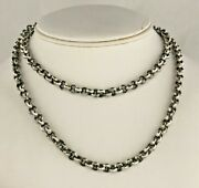 Awesome Men's Solid Sterling Silver Rolo Link Chain 30 Inches