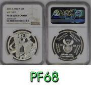 2005 South Africa Silver 2 Rand Pf68 Ngc Vultures R2 Birds Of Prey