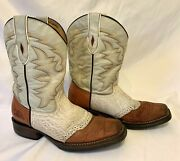 Canberra Boots And Belts Women's Western Leather Walking Boots Size 6 M Brown/tan