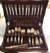 1847 Rogers Bros. Eternally Yours Silverplate Flatware 86 Pc Set With Chest