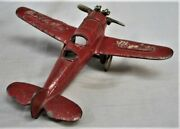 Vintage 1930's Cast Iron Toy Airplane Travel Air Mystery Kilgore