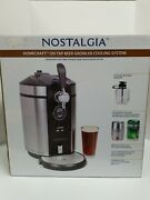 Nostalgia Homecraft On Tap Beer Growler Cooling System - Silver New Open Box