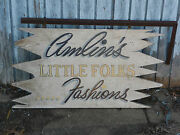Vintage Americana Wood Children's Clothing Store Sign -- Little Folks Fashions
