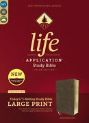 Niv Life Application Study Bible, 3rd Edition By Zondervan, Bonded Leather Brown